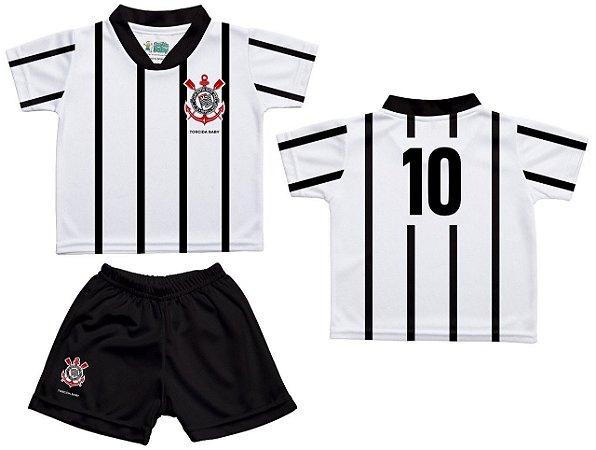 Uniforme Bebê Corinthians Oficial Branco - Torcida Baby