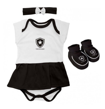 Kit Bebê Botafogo 3 Peças Menina - Torcida Baby