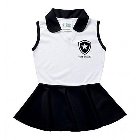 Vestido Bebê Botafogo Polo Oficial - Torcida Baby