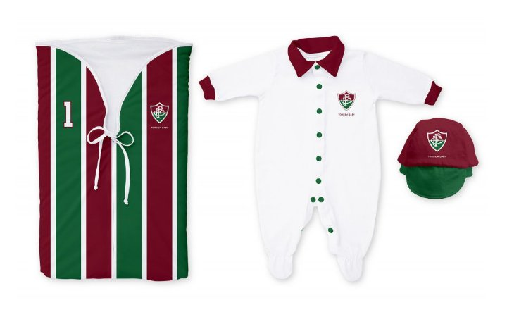 Kit Saída Maternidade Fluminense - Torcida Baby