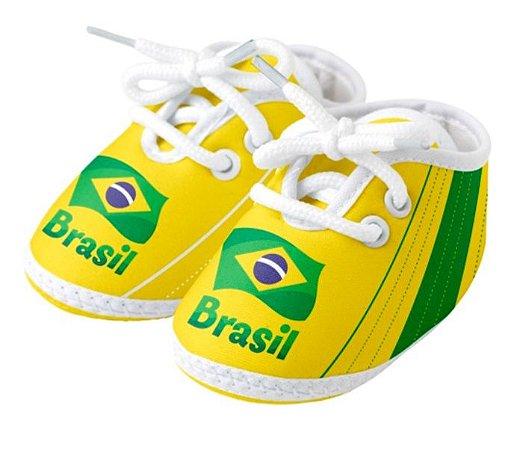 Chuteira Bebê Brasil Amarela Torcida Baby