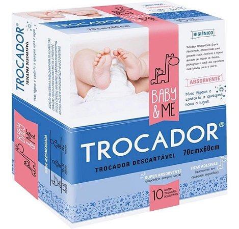 Trocador Descartável Absorvente Baby & Me 10 Unid