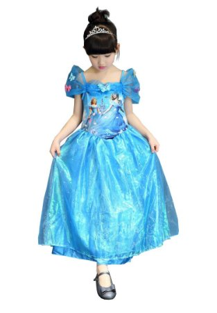 Vestido Fantasia Infantil Cinderela Estampado