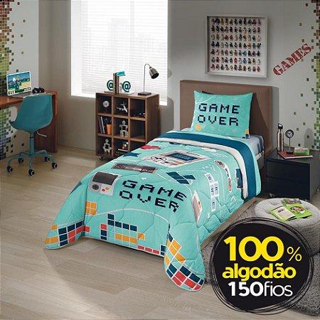 Edredom Infantil Game Over 1,50m x 2,20m - Lepper