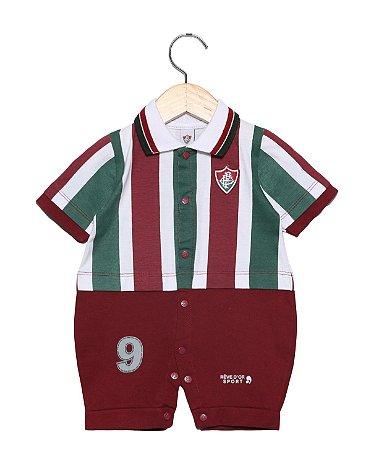 Macacão Bebê Fluminense Uniforme Campo Oficial