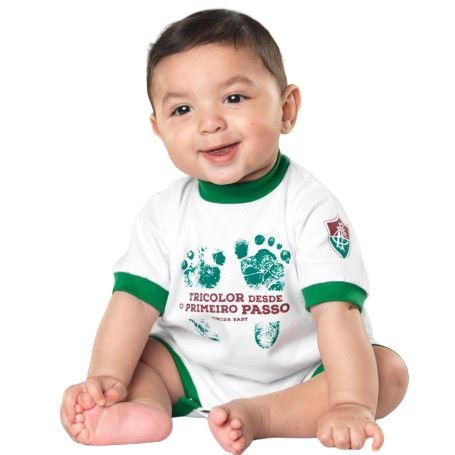 Macacão Bebê Fluminense Primeiro Passo - Torcida Baby