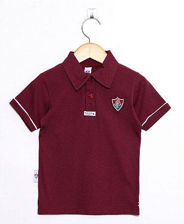 402ab93707 Polo Infantil Fluminense Grená Oficial - Cia Bebê