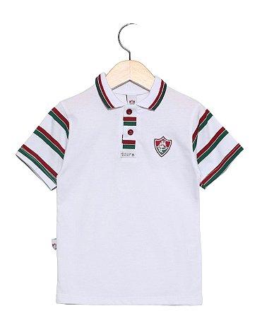Camisa Polo Infantil Fluminense Branca Oficial