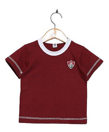 Camiseta Bebê Fluminense Grená Oficial