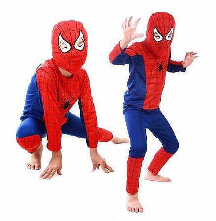 Fantasia Homem Aranha Infantil Com Máscara