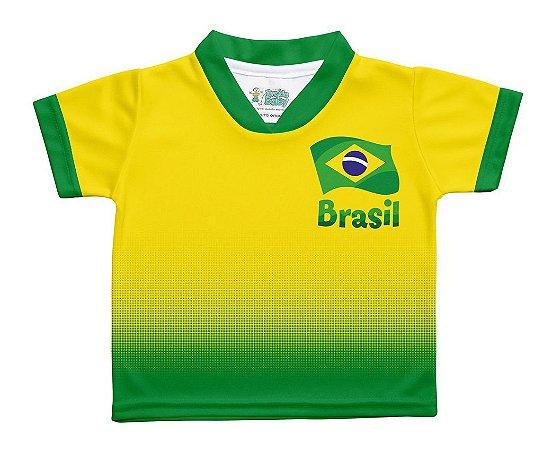 Camiseta Brasil Degradê Infantil Torcida Baby