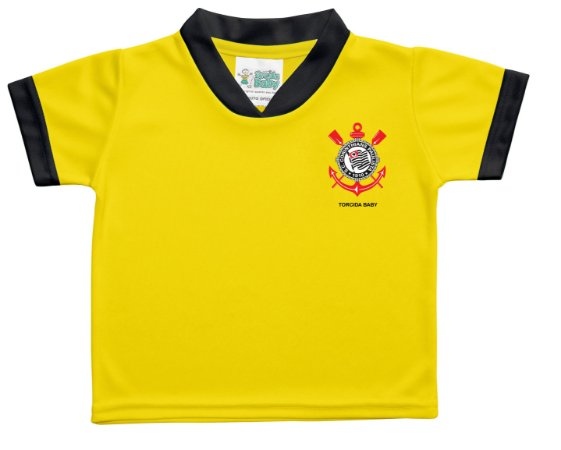 4943681f8b77a Camiseta Bebê Corinthians Amarela Torcida Baby - Cia Bebê