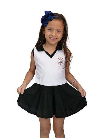 Vestido Infantil Corinthians Polo - Torcida Baby
