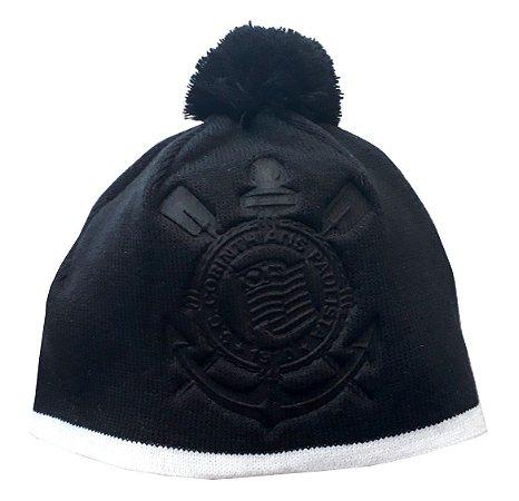 Gorro Infantil Corinthians Preto CAP Oficial