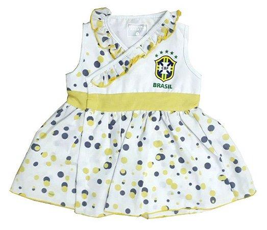 Vestido Bebê Brasil Bolinhas Revedor
