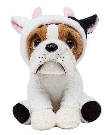 Pelúcia Cachorro Bulldog Vaquinha 22cm Buba