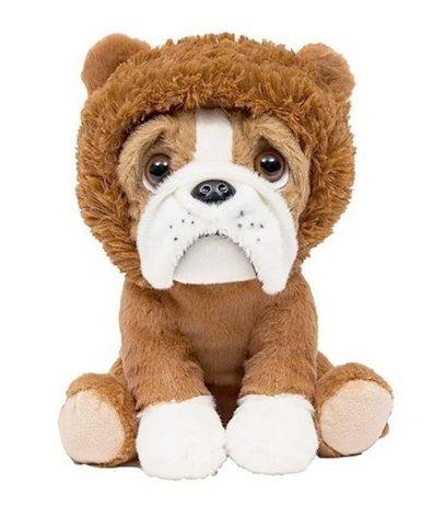 Pelúcia Cachorro Bulldog Leãozinho 22cm Buba