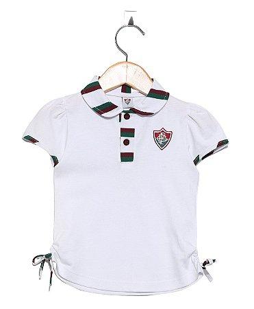 Camisa Polo Infantil Fluminense Feminina Oficial