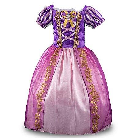 Vestido Fantasia Rapunzel Enrolados Infantil