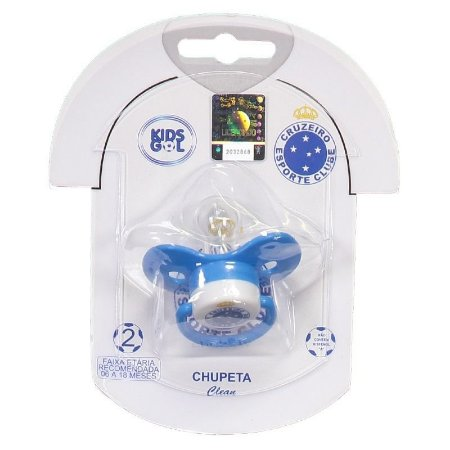 Chupeta Cruzeiro Borboleta Redonda S2 Kids Gol