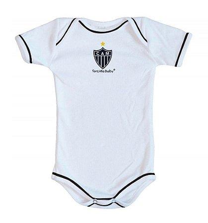 Body Atlético MG Oficial Branco - Torcida Baby