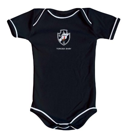 Body Vasco Oficial Preto - Torcida Baby