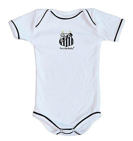 Body Santos Oficial Branco - Torcida Baby
