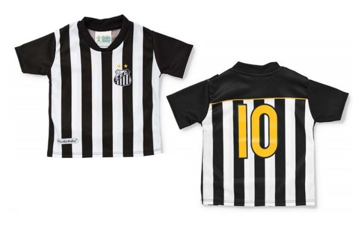 Camiseta Infantil Santos Listras - Torcida Baby - Cia Bebê ... aa6deaeb7fbad