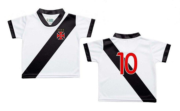 Camiseta Bebê Vasco Branca - Torcida Baby - Cia Bebê  9f665a36406ed