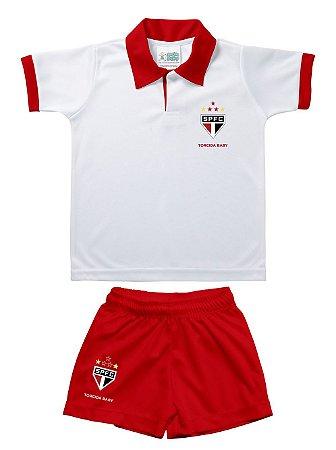 Conjunto Bebê São Paulo Polo Oficial - Torcida Baby