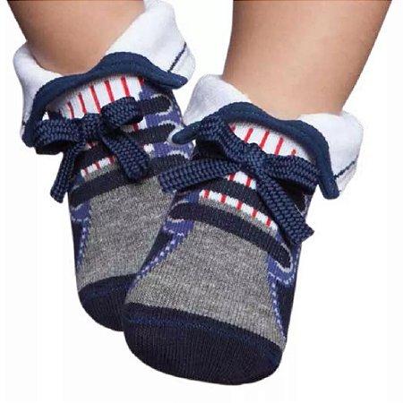 Meia Tênis Botinha Bebê Cinza Puket (15 ao 18)