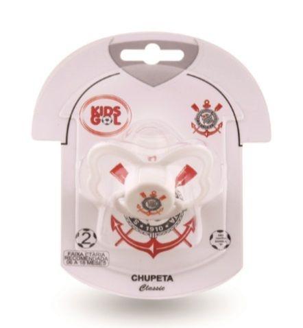Chupeta do Corinthians Kids Gol S1 - Cia Bebê  a9f75265fa524