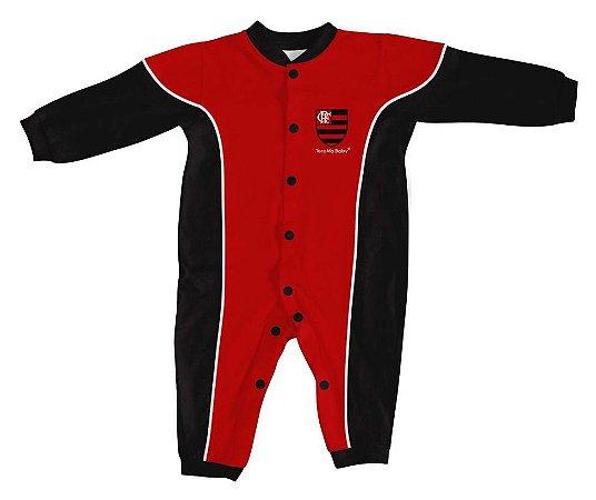 Macacão Bebê Flamengo Longo - Torcida Baby