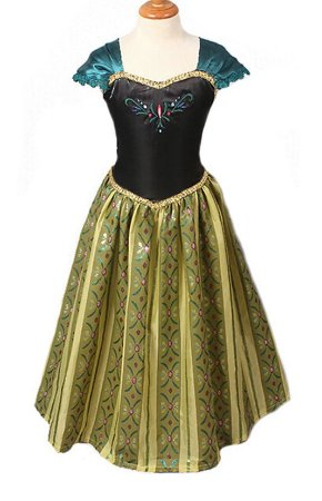 Vestido Infantil Anna Frozen Coroação Luxo