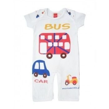 Pijama Bebê Manga Curta Bus Get Baby