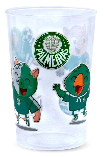 Copo Palmeiras Plástico Transparente Lolly 350ml