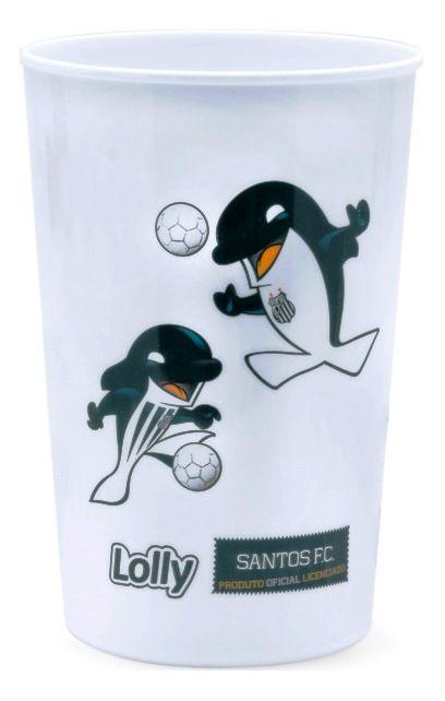 Copo Santos Plástico Branco Lolly 350ml