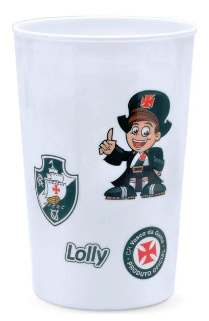 Copo Vasco Plástico Branco Lolly 350ml