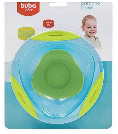 Pratinho Bebê Bowl Azul com Ventosa Buba