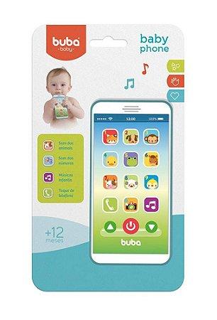 Baby Phone Bebê Musical Azul Buba
