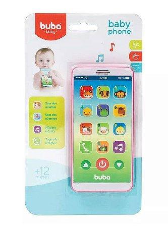Baby Phone Bebê Musical Rosa Buba