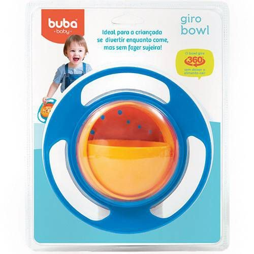 Prato Infantil Mágico Giro Bowl Azul Buba