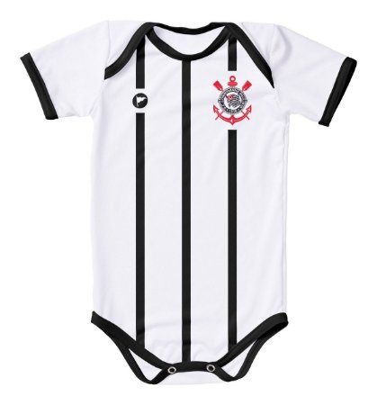 5b09d8b7b9b58 Body Corinthians Proteção UV Branco Oficial - Cia Bebê