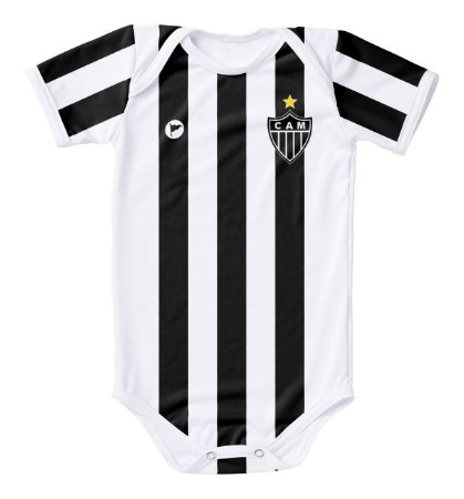 3dd0108122b16 Body Atlético MG Proteção UV Branco Oficial - Cia Bebê