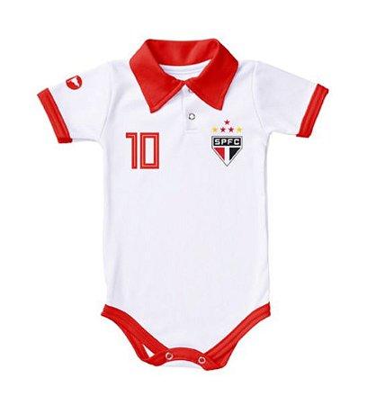 Body São Paulo Polo Branco Torcida Baby