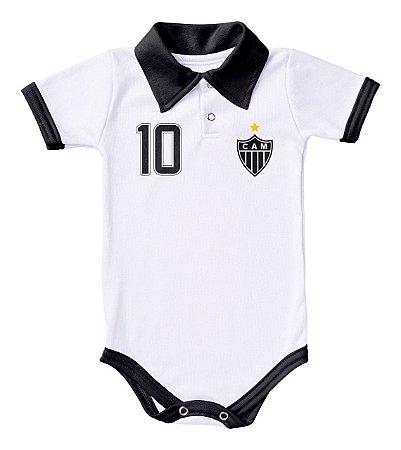 Body Atlético MG Polo Branco Torcida Baby