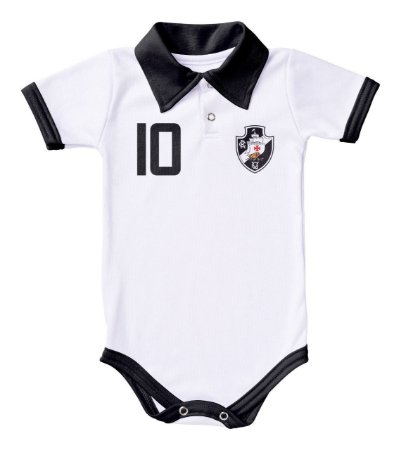 Body Vasco Polo Branco Torcida Baby