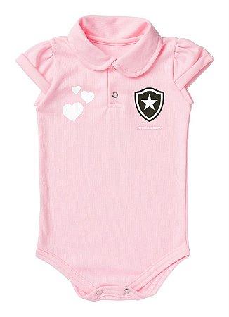 Body Botafogo Polo Rosa Torcida Baby