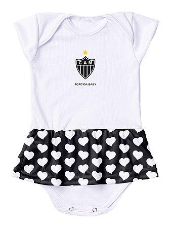 Body Vestido Atlético MG Corações Torcida Baby