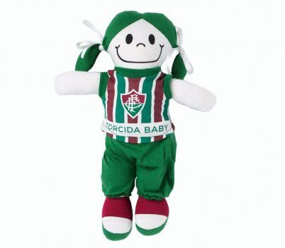 Boneca Torcedora Fluminense - Torcida Baby - Cia Bebê  857748b6afae7